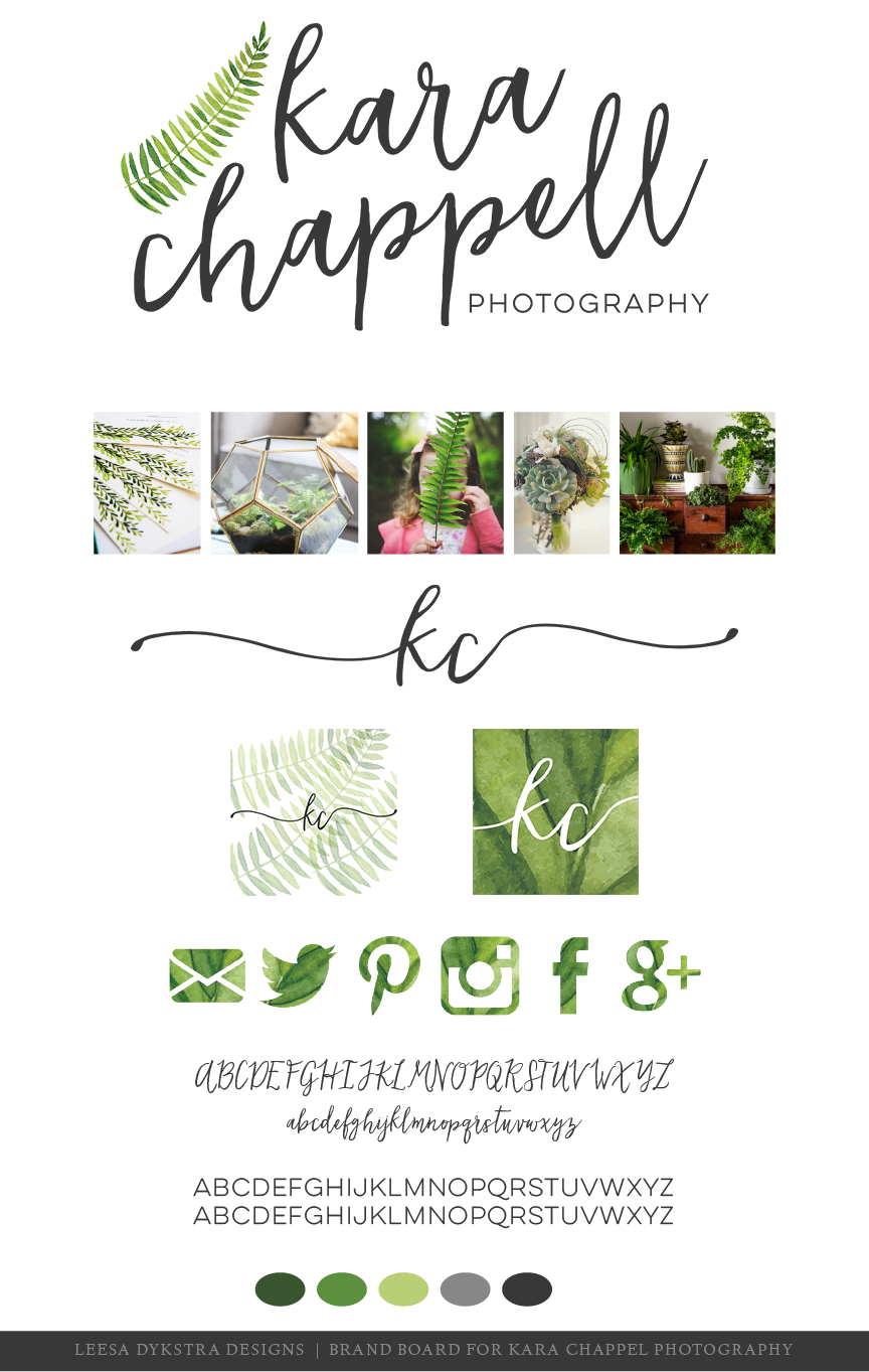 Brand Board for Kara Chappell Photography by Leesa Dykstra Designs