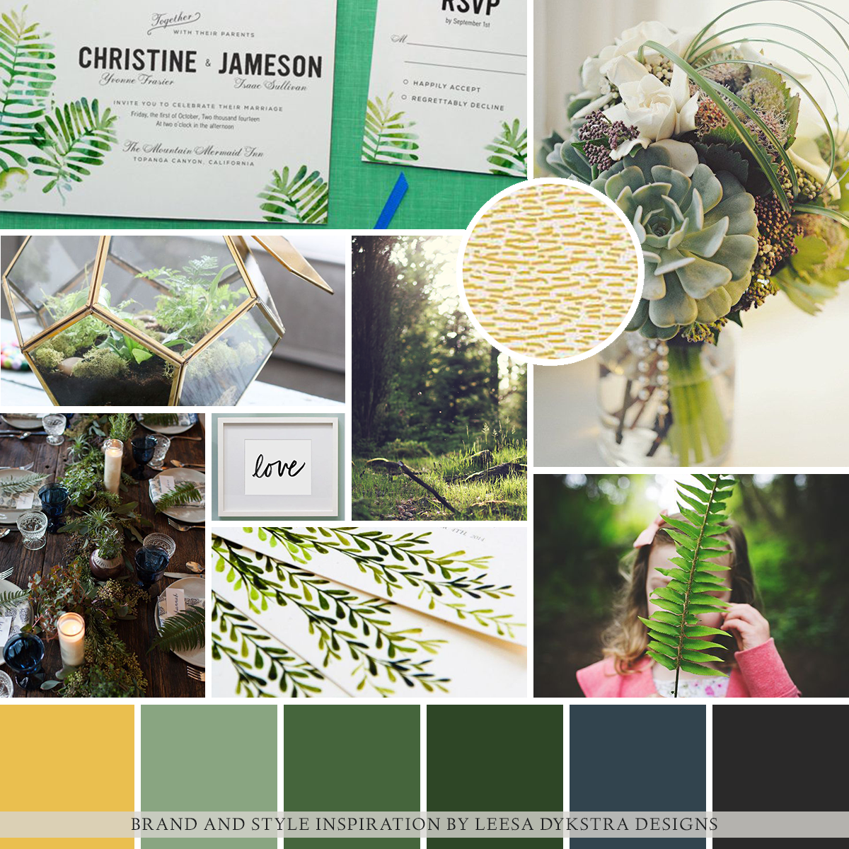 Mood Board | Brand and Style Inspiration for Kara Chappell Photography by Leesa Dykstra Designs