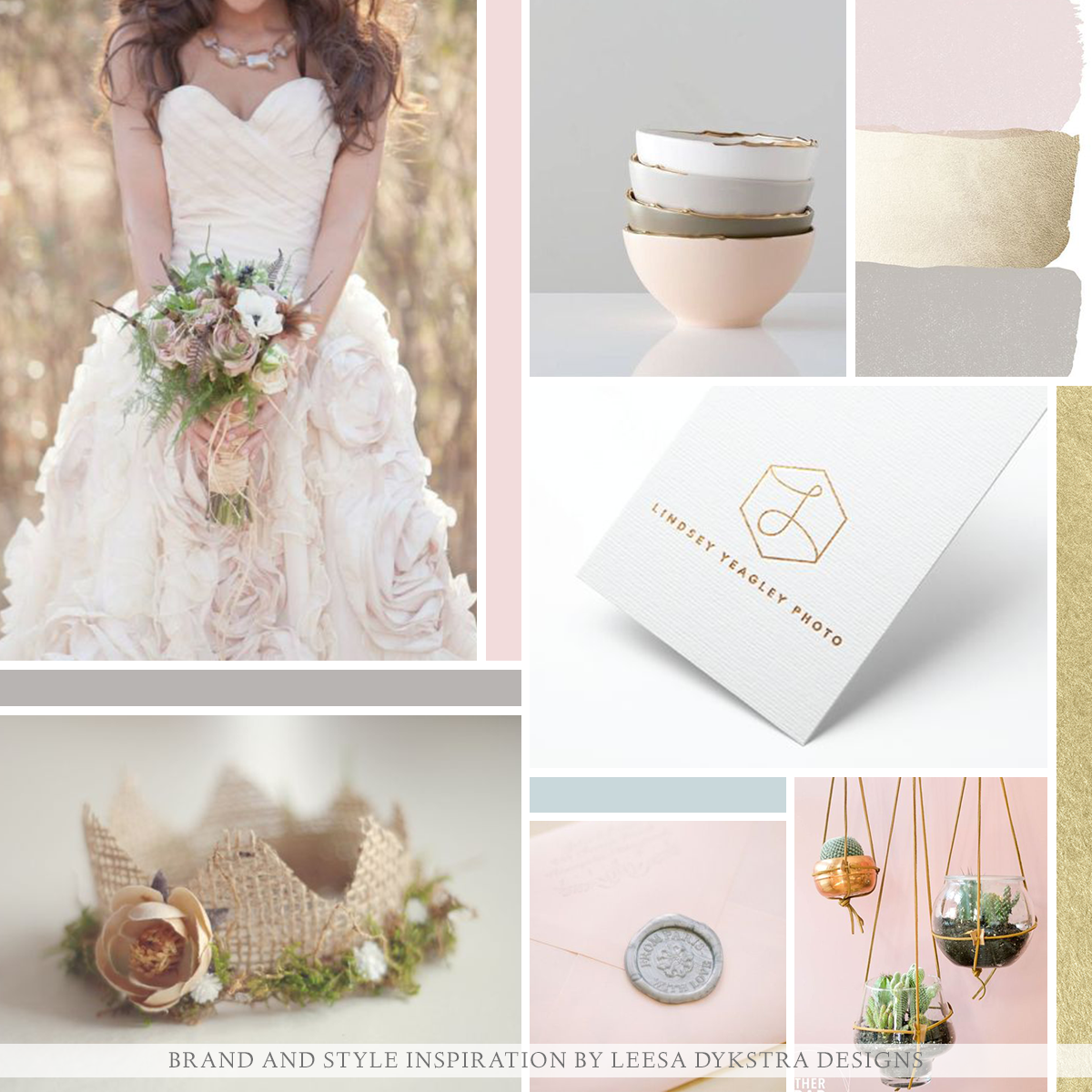 Mood Board | Brand and Style Inspiration for Jac N Jules Photography by Leesa Dykstra Designs