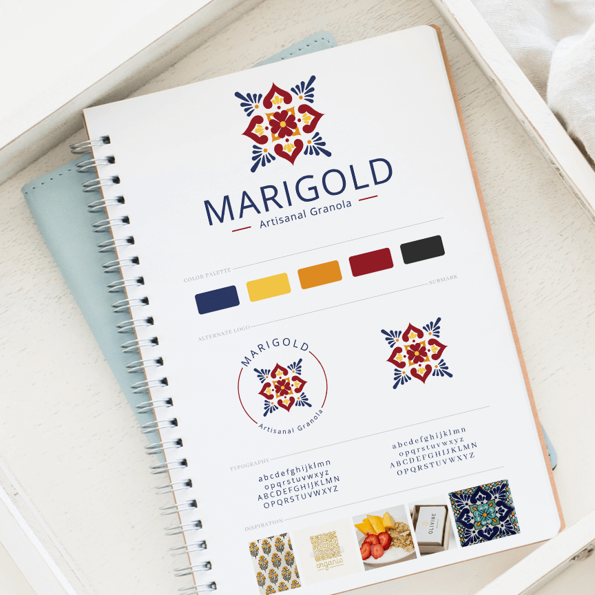 Brand Design for Marigold Artisanal Granola by Leesa Dykstra Designs.png