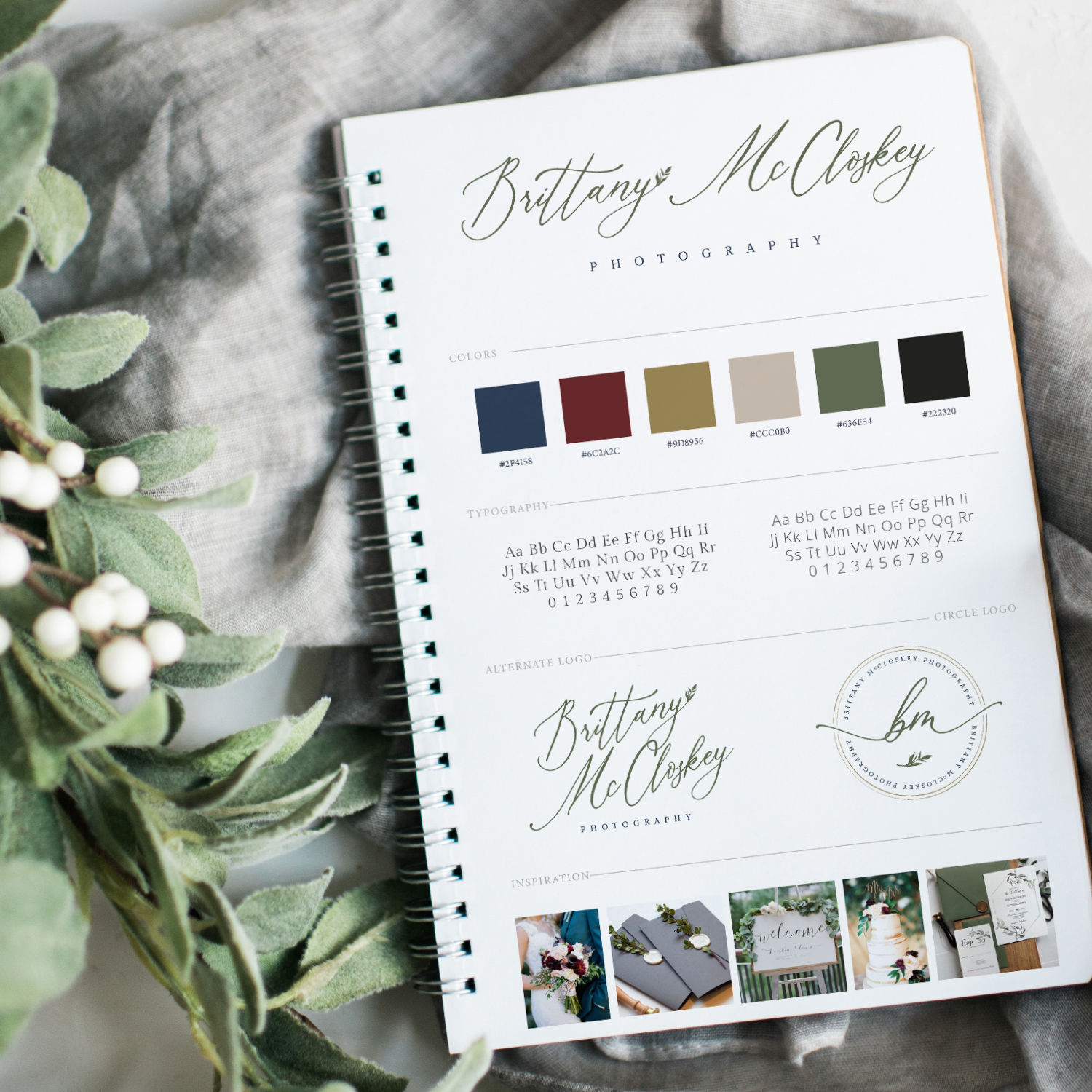 Brand Board Mockup for Brittany McCloskey Photography by Leesa Dykstra Designs.jpg