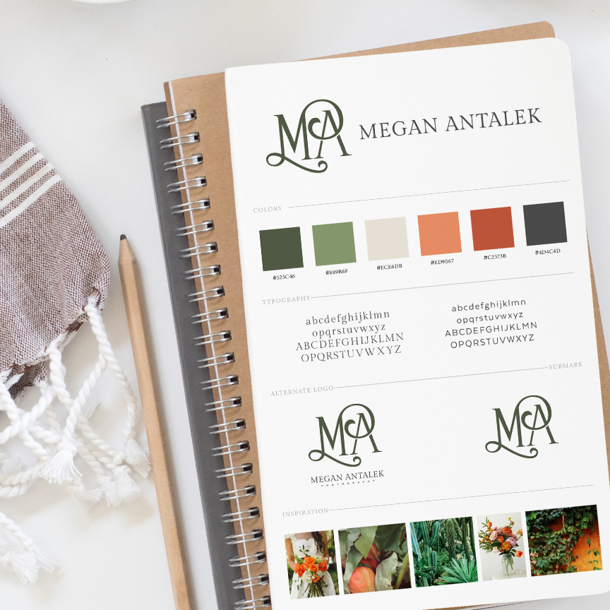 Brand Board Mockup for Megan Antalek Photography by Leesa Dykstra Designs.jpg
