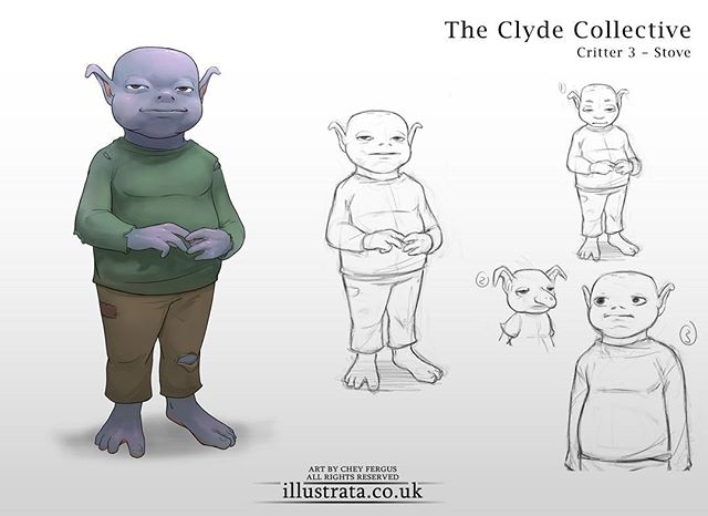 The Clyde Collective! A cute something that came out of NDA a little while ago. This one's 'Stove'. A lovable laid back fellow that I honestly wish I was more like. I wish to be round. And laid back.  Mostly round.