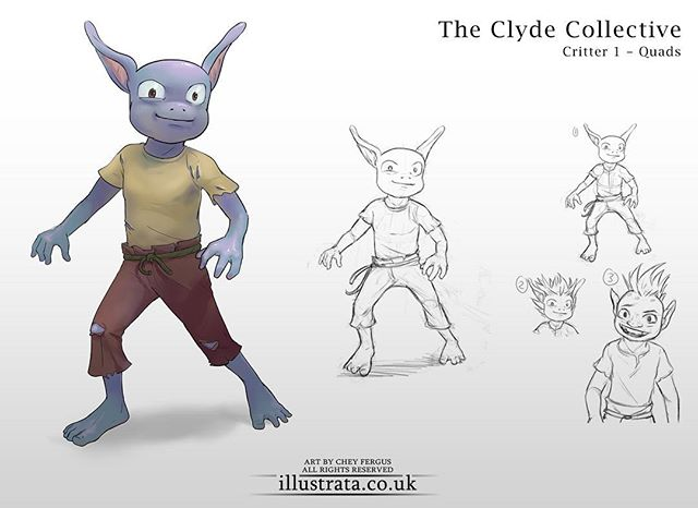 The Clyde Collective! A cute something that came out of NDA a little while ago. This one's 'Quads'. A lovable mischievous little fellow with the eyes of a worrying caffeine fiend.