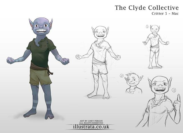 The Clyde Collective! A cute something that came out of NDA a little while ago. This one's 'Mac'. The jock of the group... kind of. Attractive in a goblin way, charismatic and possibly very annoying at times. Look at that defined chest! Almost boobular.