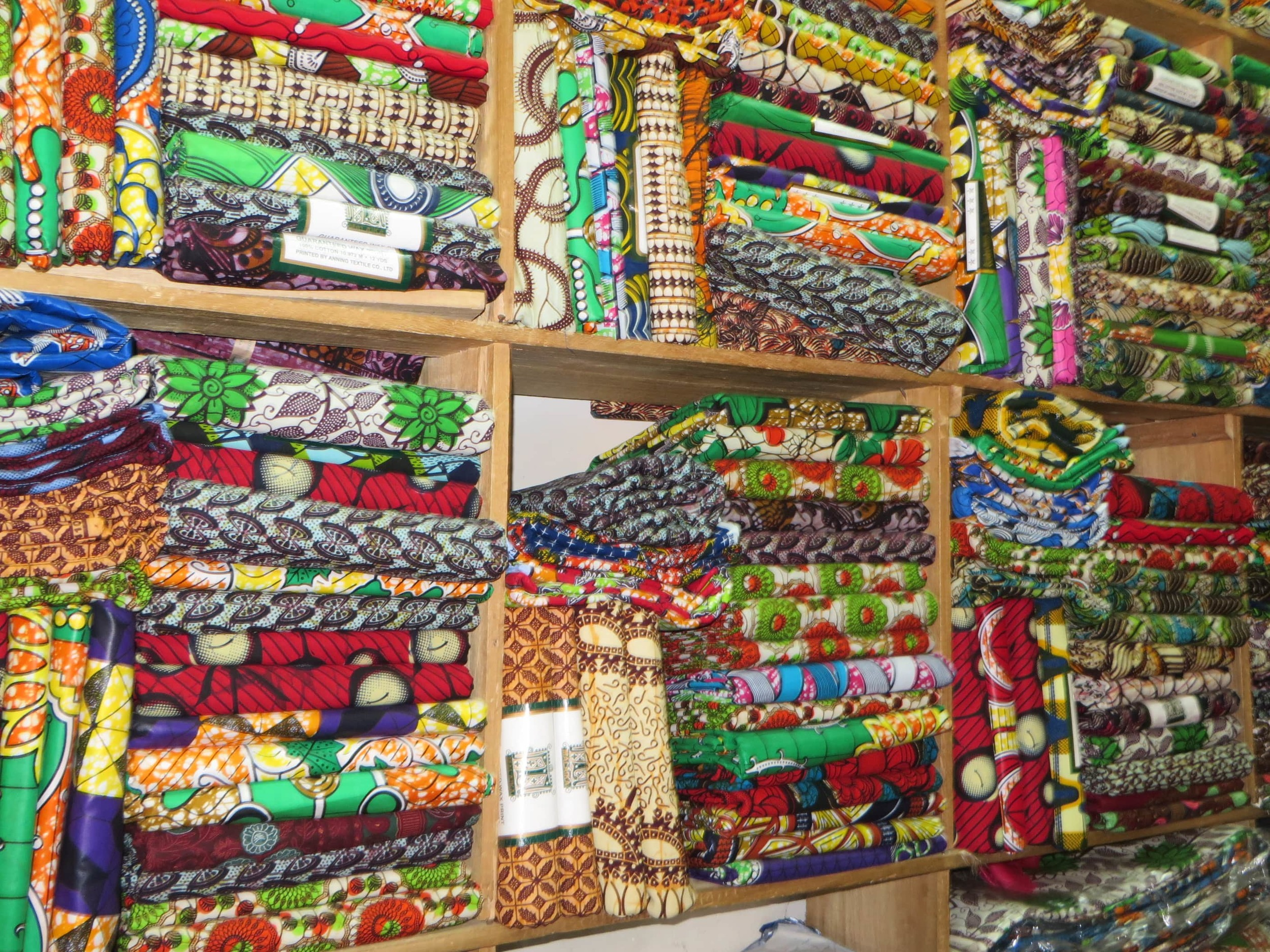 Fabric stall in Ugana