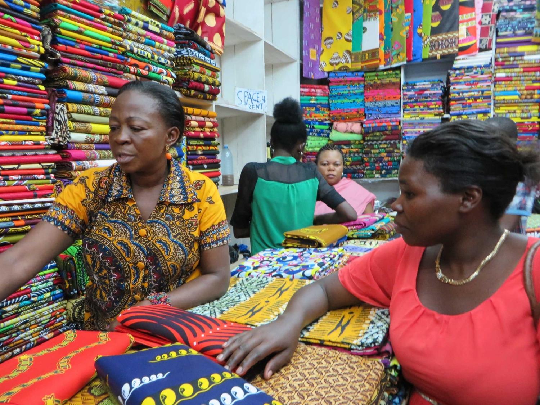 Kampala Uganda fabric shop