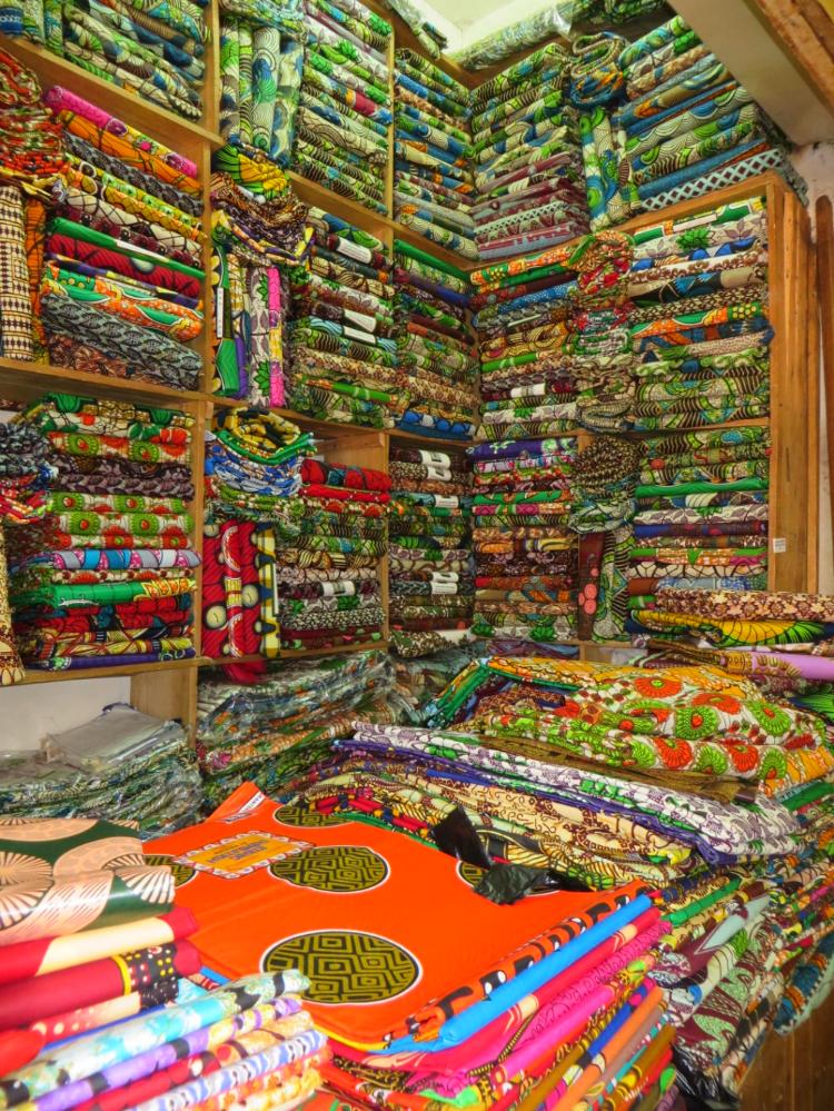 Fabricshopping in Kampala Uganda