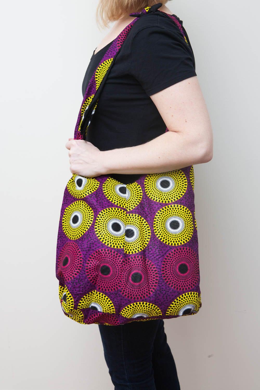 Mazuri Designs shoulder market bag