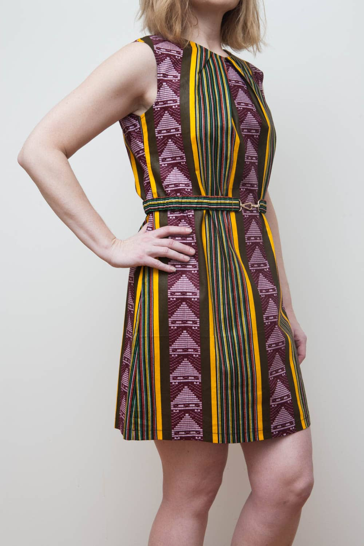 African ethnic print dress