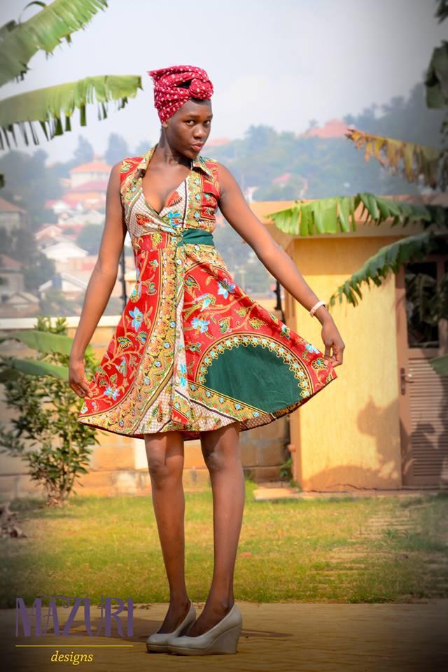 ankara print fair trade short dress.jpg
