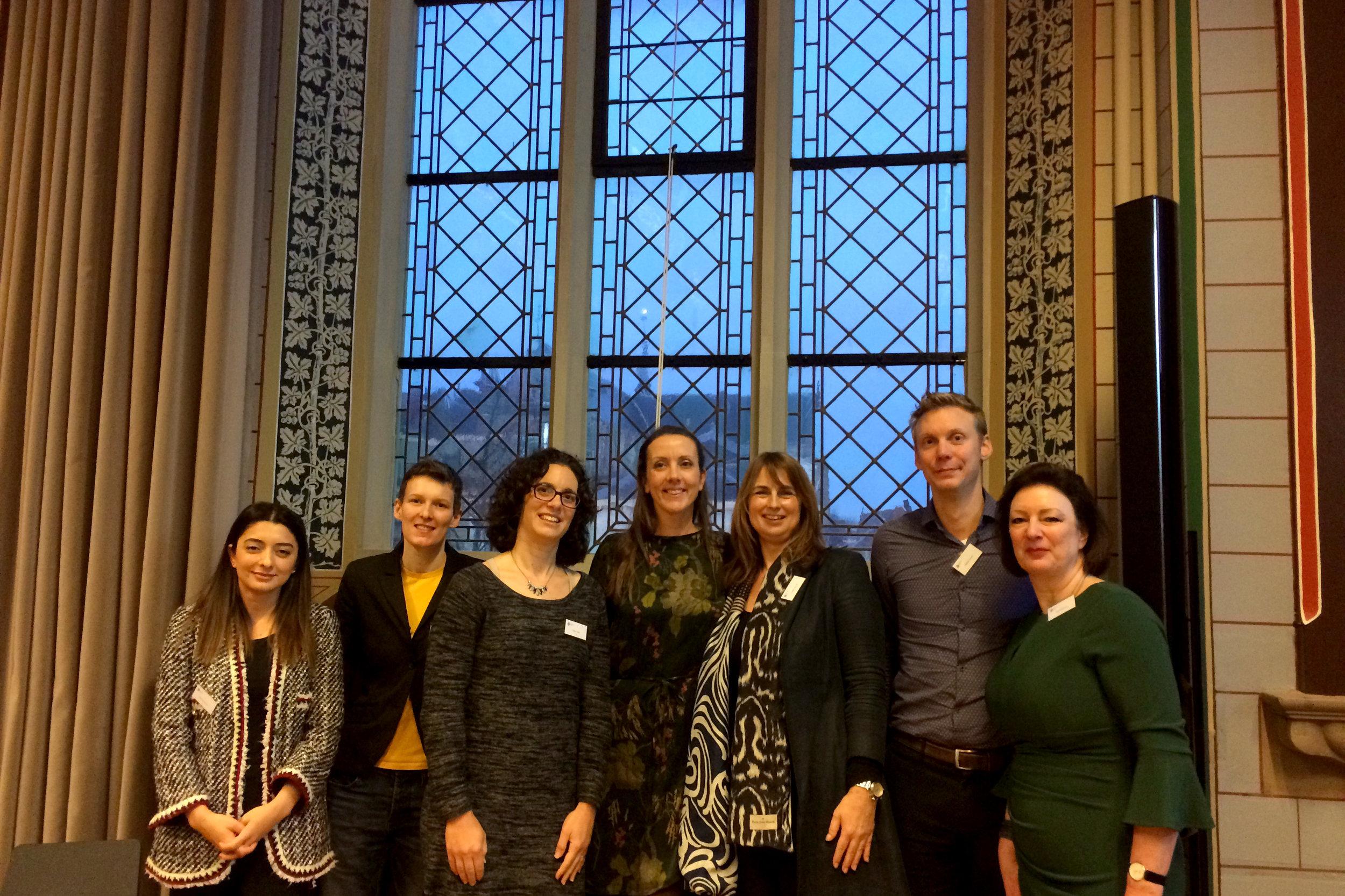 Speakers from left to right: Seval Gündemir, Thekla Morgenroth, Cheryl Kaiser, Jojanneke van der Toorn, Colette van Laar, Wiebren Jansen, Naomi Ellemers