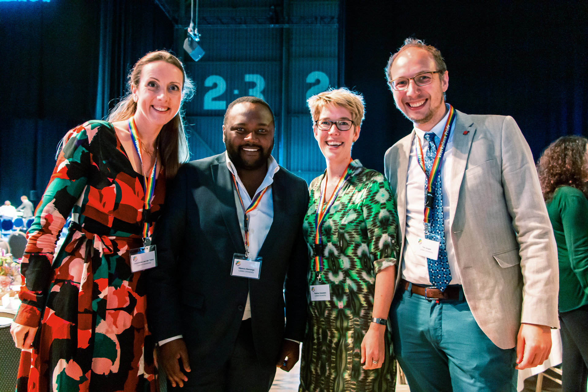 Leiden University was well represented at the conference (From left to right: Jojanneke, Mpanzu, Pauline and Tim)