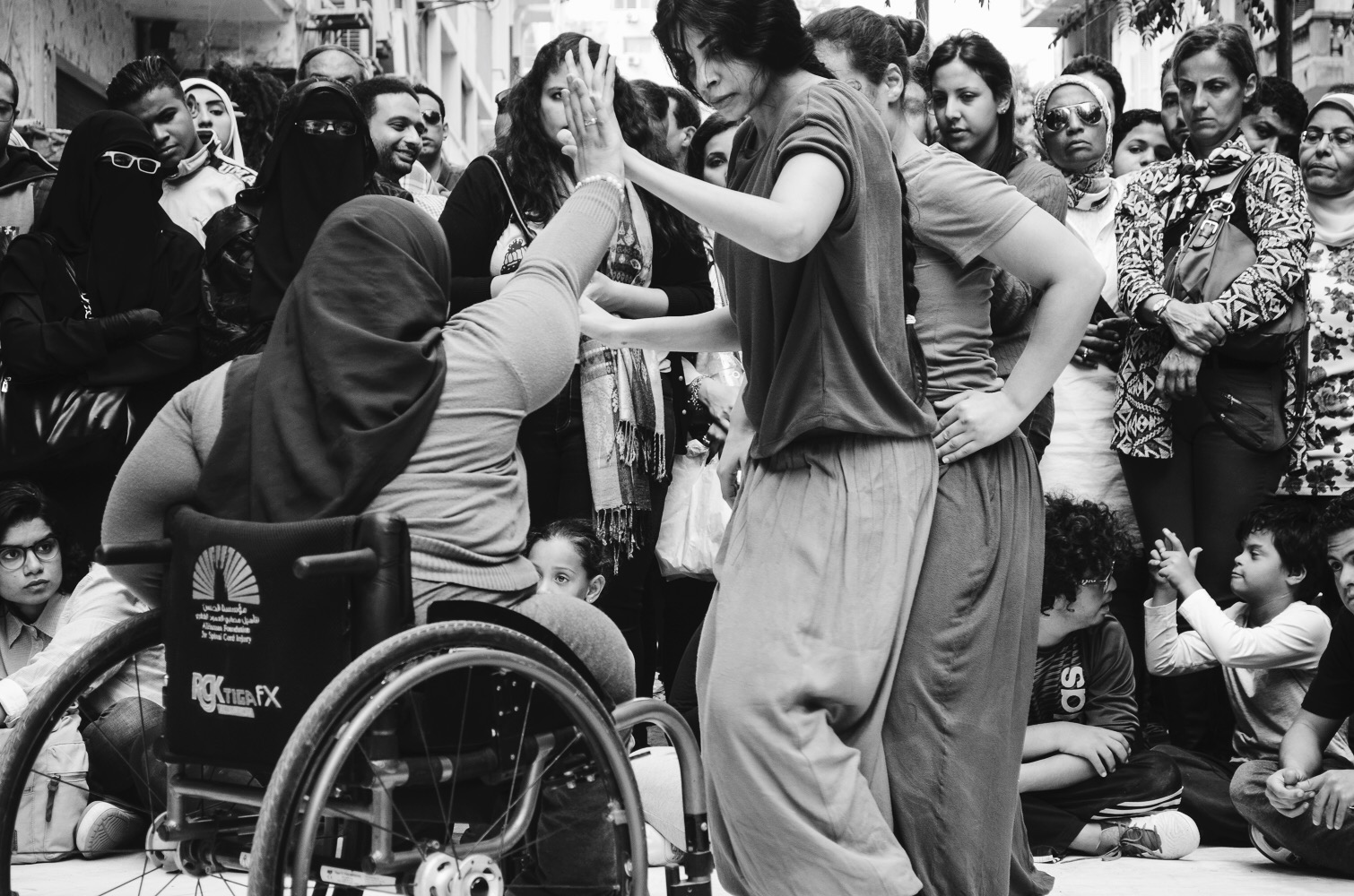 Disability is a performance...disabled people live most of their lives trying to cross obstacles and break limitations in their life...whether on a wheel chair or any sort of aid...they are always in motion and action...performing their disability, feeling the familiar and unfamiliar...