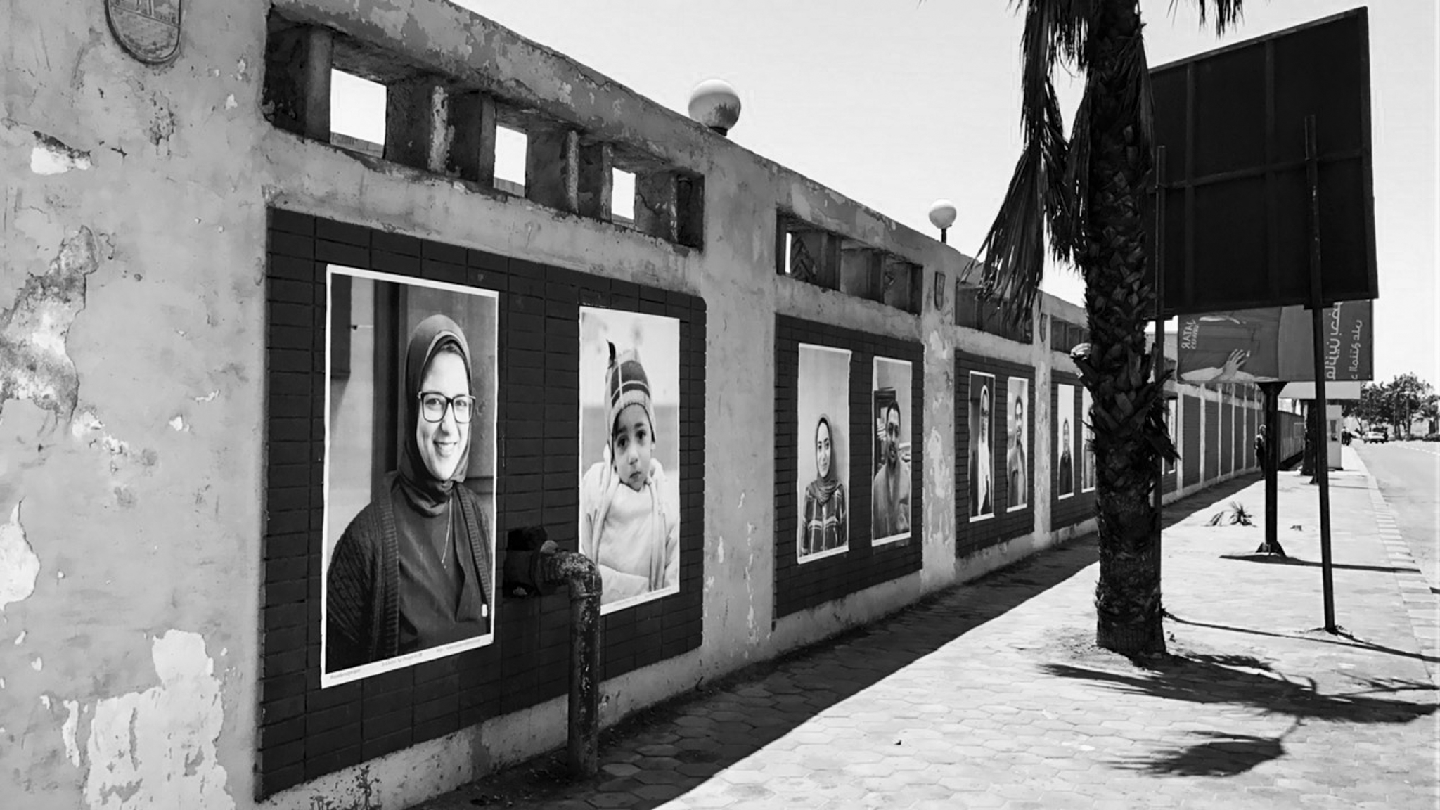 Each portrait carrying a timeline behind it and reflecting the community of the Hospital...