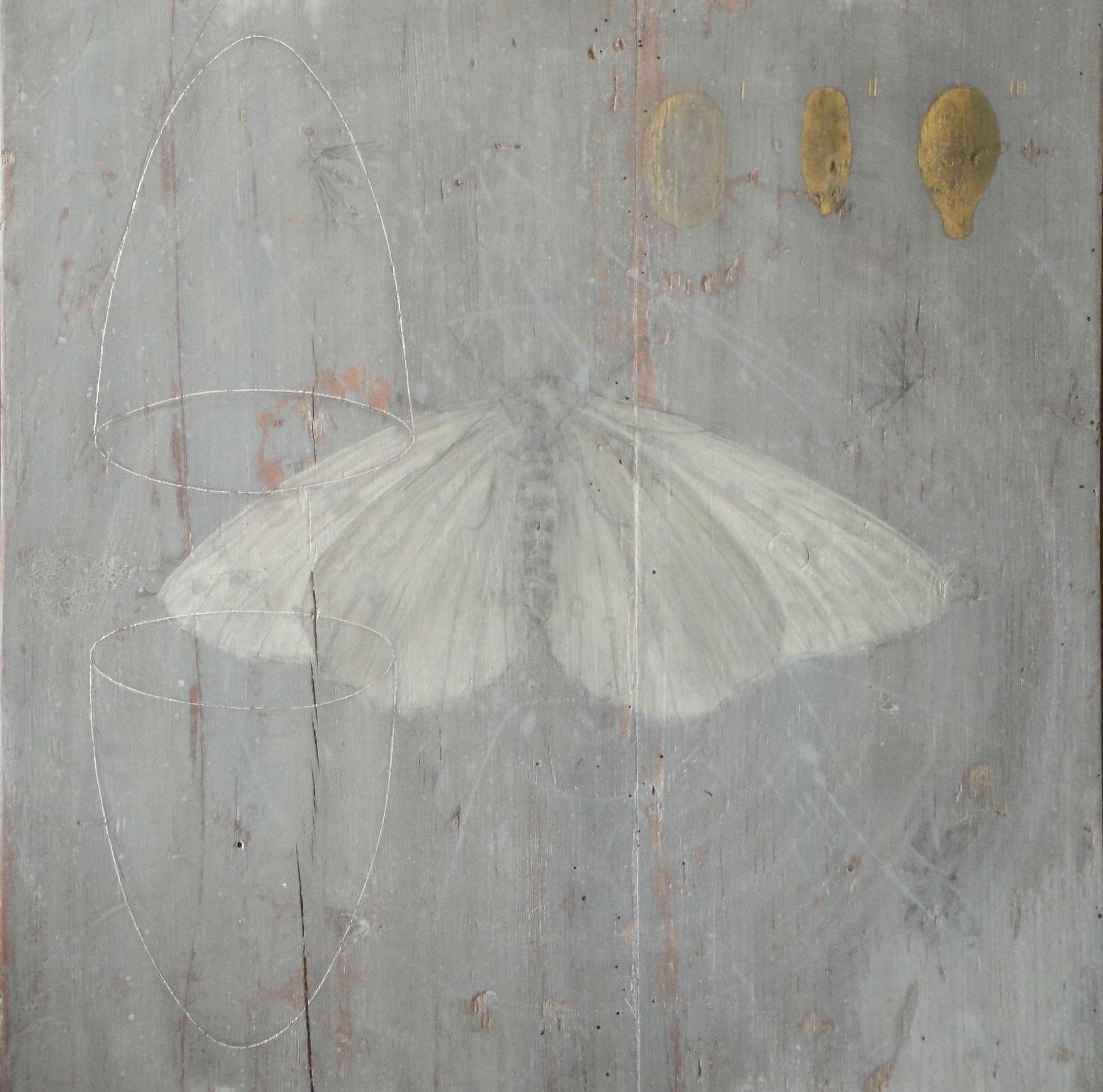 Endurance I - egg tempera, gold leaf on wooden panel 46 x 46 cm