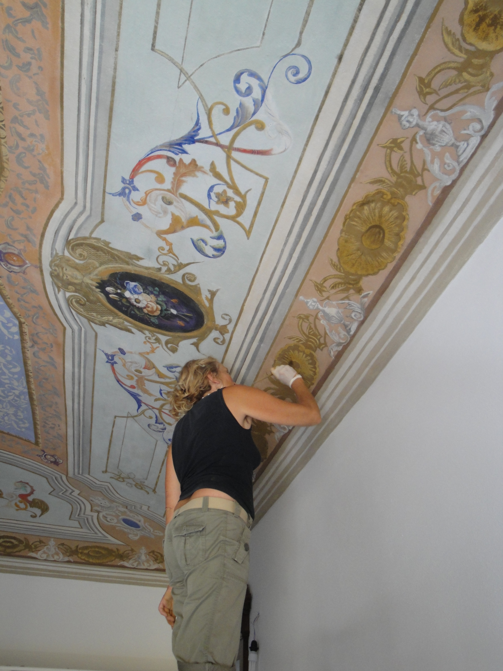 ceiling painting, Bosa.