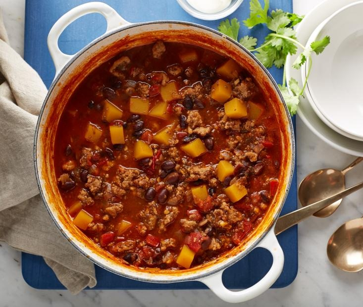 Butternut Squash & Four Bean Chili - 6 Servings