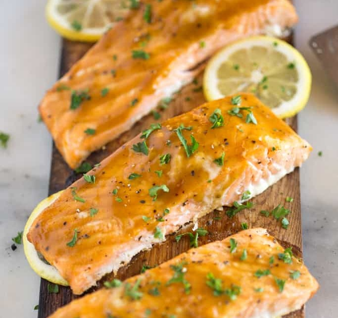 Cedar Plank Salmon - Cook Time - 2 hours3 Servings