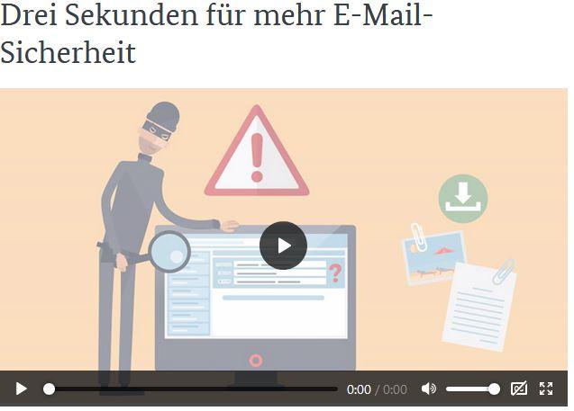 Link zum BSI für Bürger: Video über Mailsicherheit