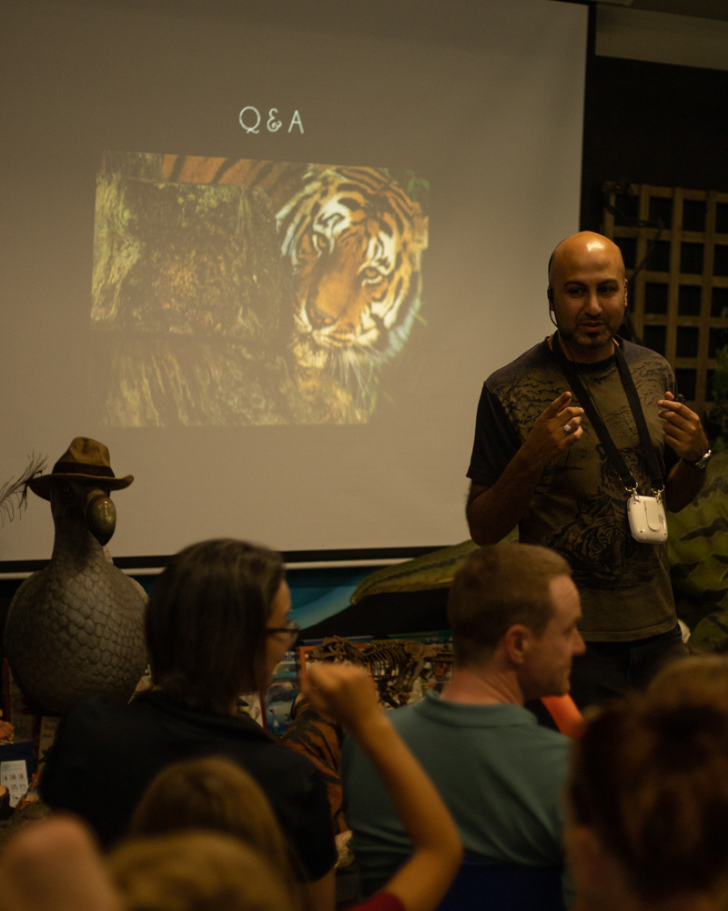It was heartwarming to see so much interest and love for tigers from the next generation. The quality of questions was fantastic.
