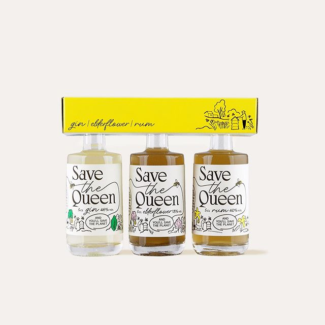 Save The Queen Mini's! Now available in sets of 5 cl via our webshop. Link in bio.  #gintonic #ginandtonic #gin #rum #elderflower #drinks #cocktails #ikkoopbelgisch #localproduct #madeinbelgium #belgium #gent #brussels #savethequeen #savethebees #honing #honey #bees #urbanbeekeeping #beekeeping