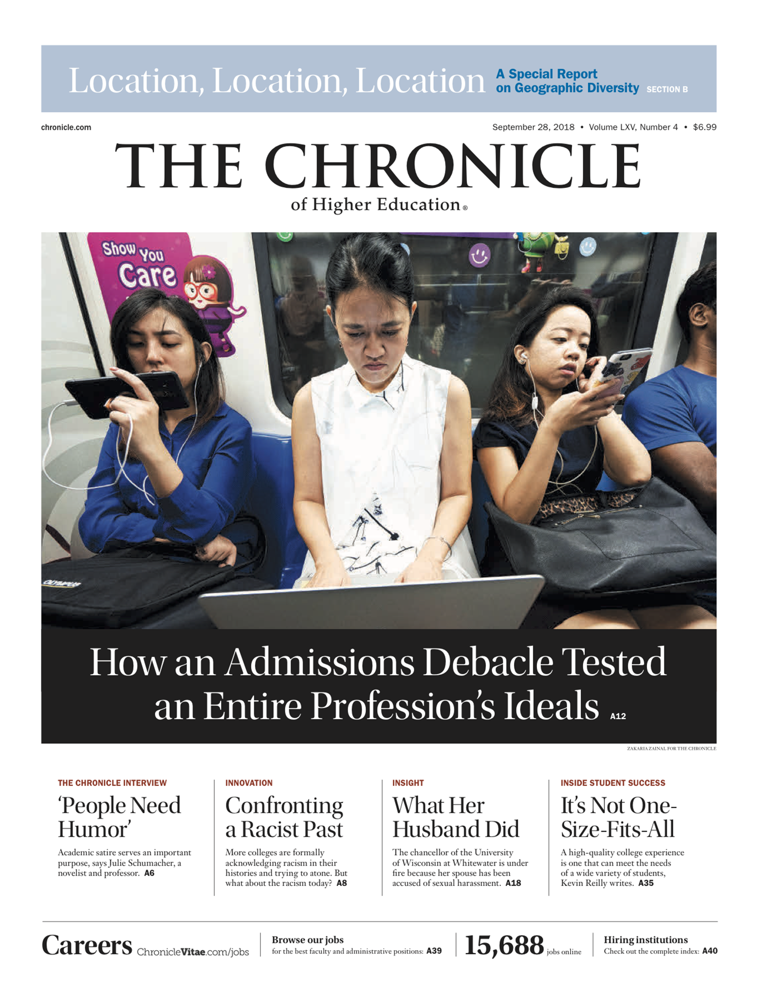 Cover photograph of The Chronicle of Higher Education.