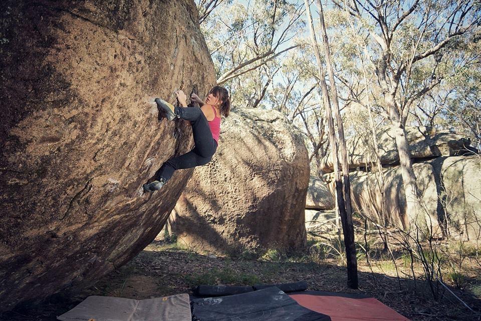 Bouldering in Stanthorpe, Australia.