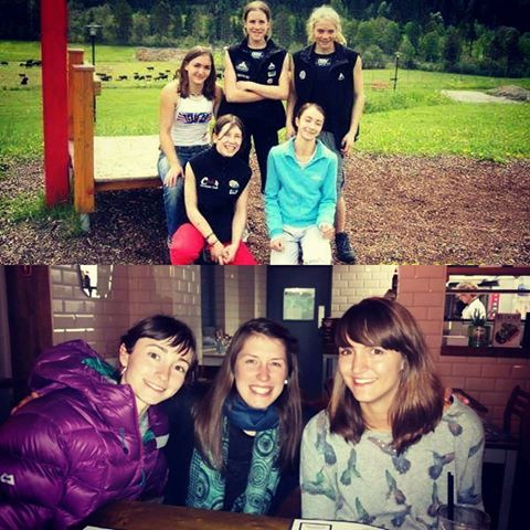 Natalie, Beth Monks (also one of my very first friends from the EYS) and me: 2005 vs 2016 - have we really changed? ;)