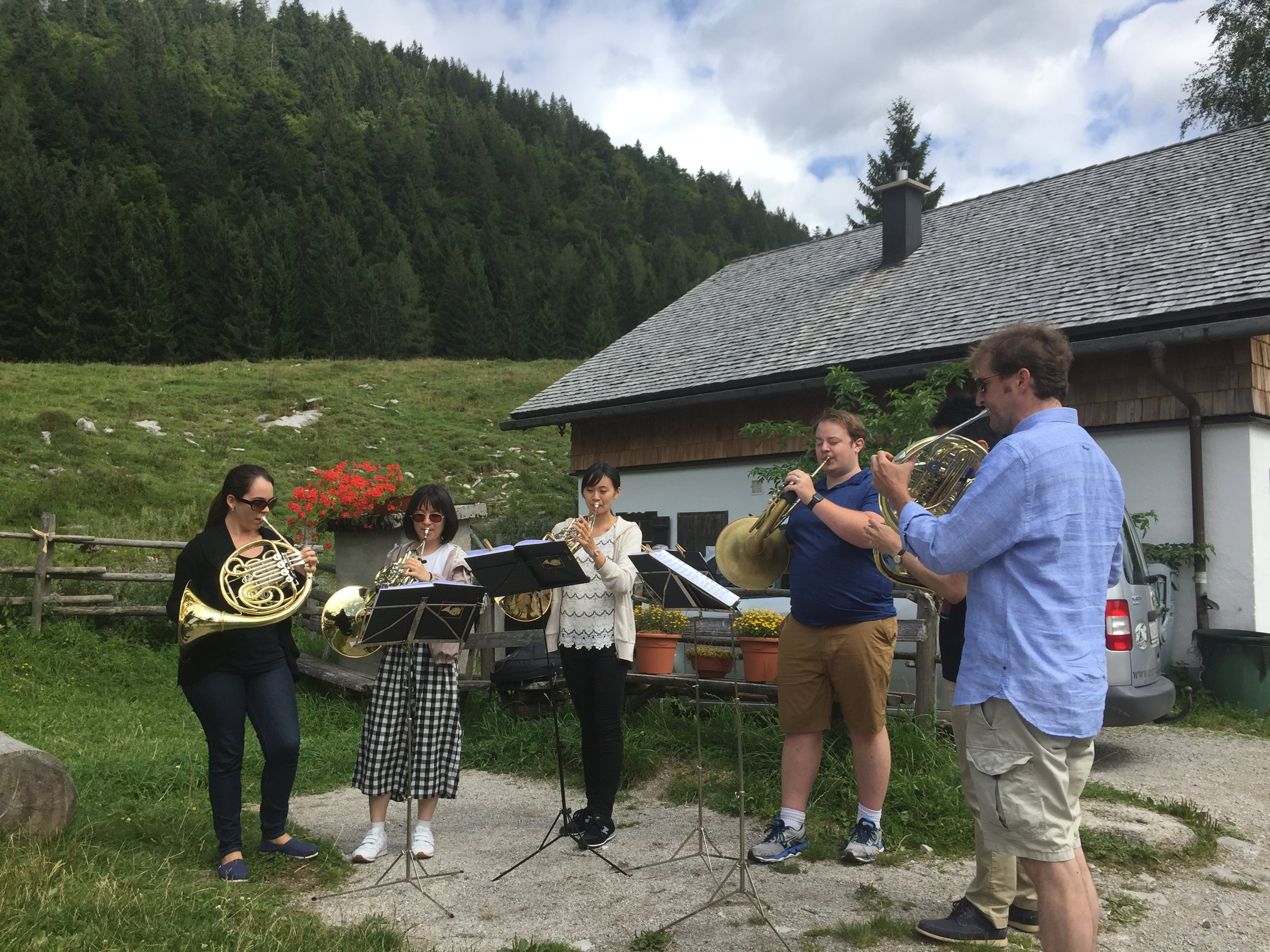 Horn Quartets/Sextets led by our fearless leader Johannes Hinterhölzer