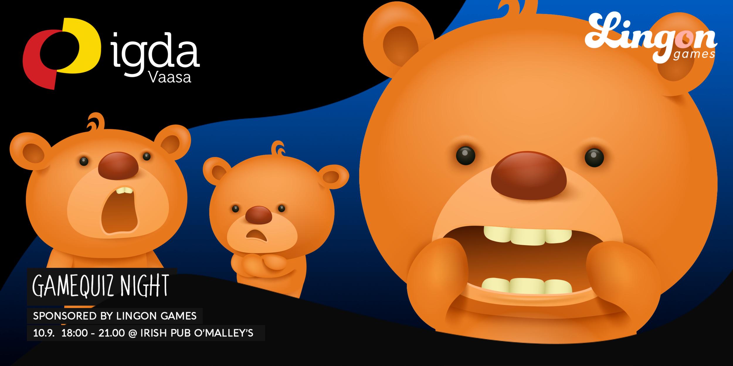 IGDA Vaasa presents: Gamequiz Night by Lingon Games