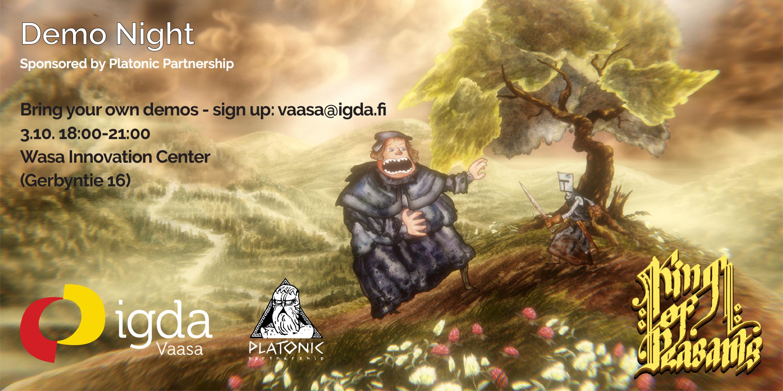 IGDA Vaasa presents: Night of Game Demos by Platonic Partnership