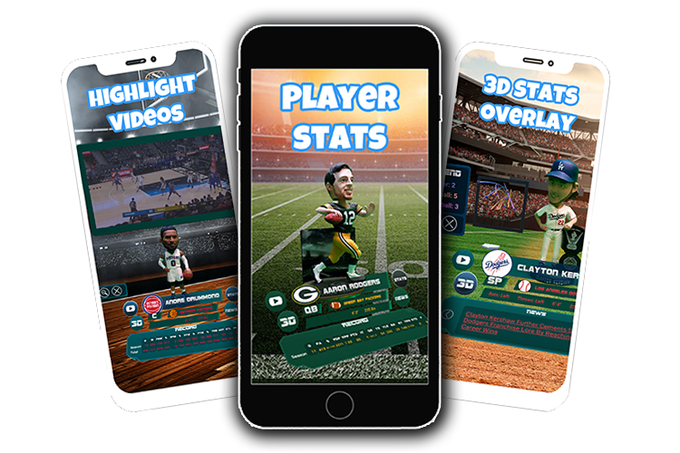 Bring your favorite athlete, celebrity, or even your own custom bobblehead to life with the AR Bobbles app! We developed this app from the ground up for our client Brand XR.