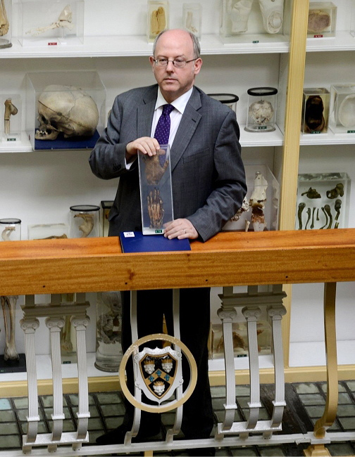 Mr William Edwards, Curator of The Gordon Museum of Pathology, King's College London.