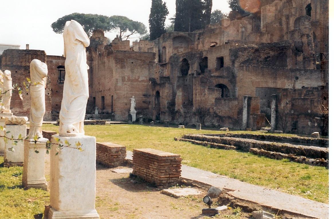 Courtyard of the Vestal Virgins in the Roman Forum.