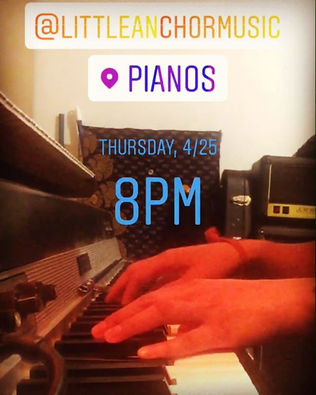 See you TONIGHT @pianosnyc!! We're on at 8pm 😎