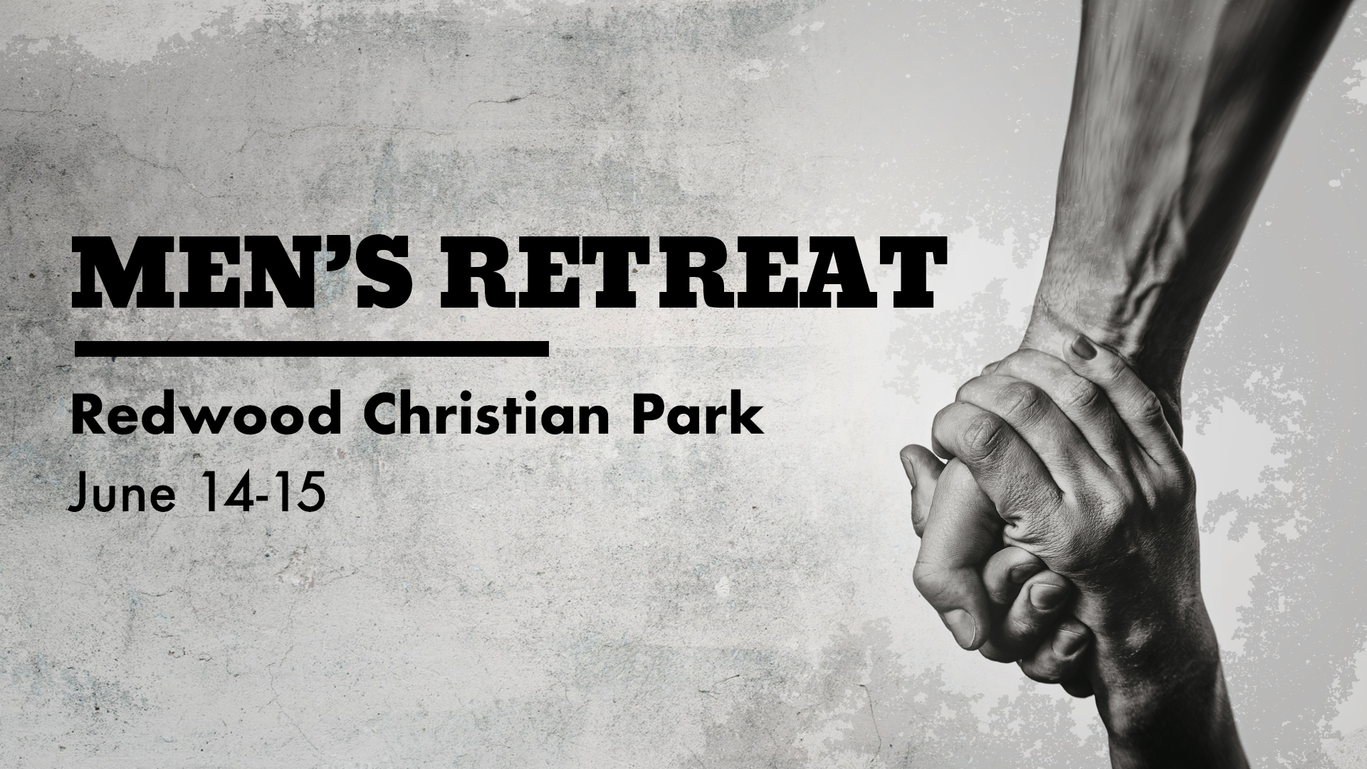 Men of Redemption! Our retreat is coming up and we'd love to have all of you attend. The cost is $145 with the option to sponsor registration for other men. We don't want cost to be a barrier for anyone so please email  info@redemptionsf.com  if you need financial assistance for your registration. Plan for a Friday evening arrival, Saturday evening return. We'll have a carpool list closer to the event.   COST : $145 (with the option to give more toward a scholarship fund)  Cost includes: Lodging, breakfast, lunch and dinner on Saturday, snacks, our wonderful speaker, Michael Field from Fellowship Monrovia, worship leader Cormac Parker Jr., and venue space for our retreat.   REGISTER HERE