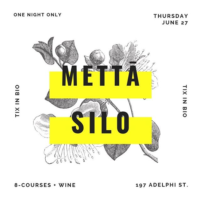 🍃🍃🍃NEXT THURSDAY🍃🍃🍃 talented team behind @silobrighton @flora_fooduk and leaders in zero-waste dining come to Mettā for 1 night only. tix + details drop tomorrow. stay tuned, friends...