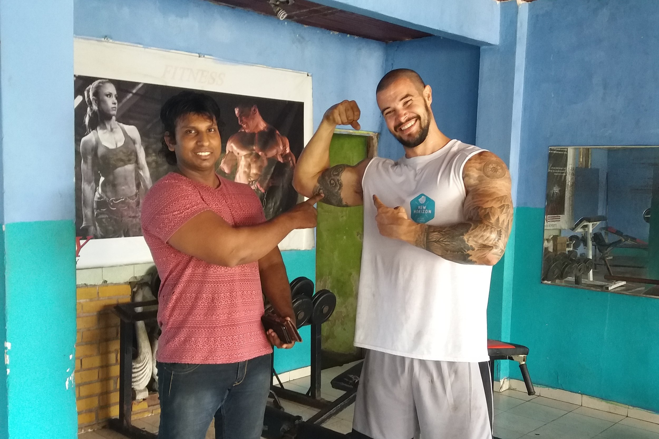 The local gym owners were very welcoming and always wanted a photo op before we left