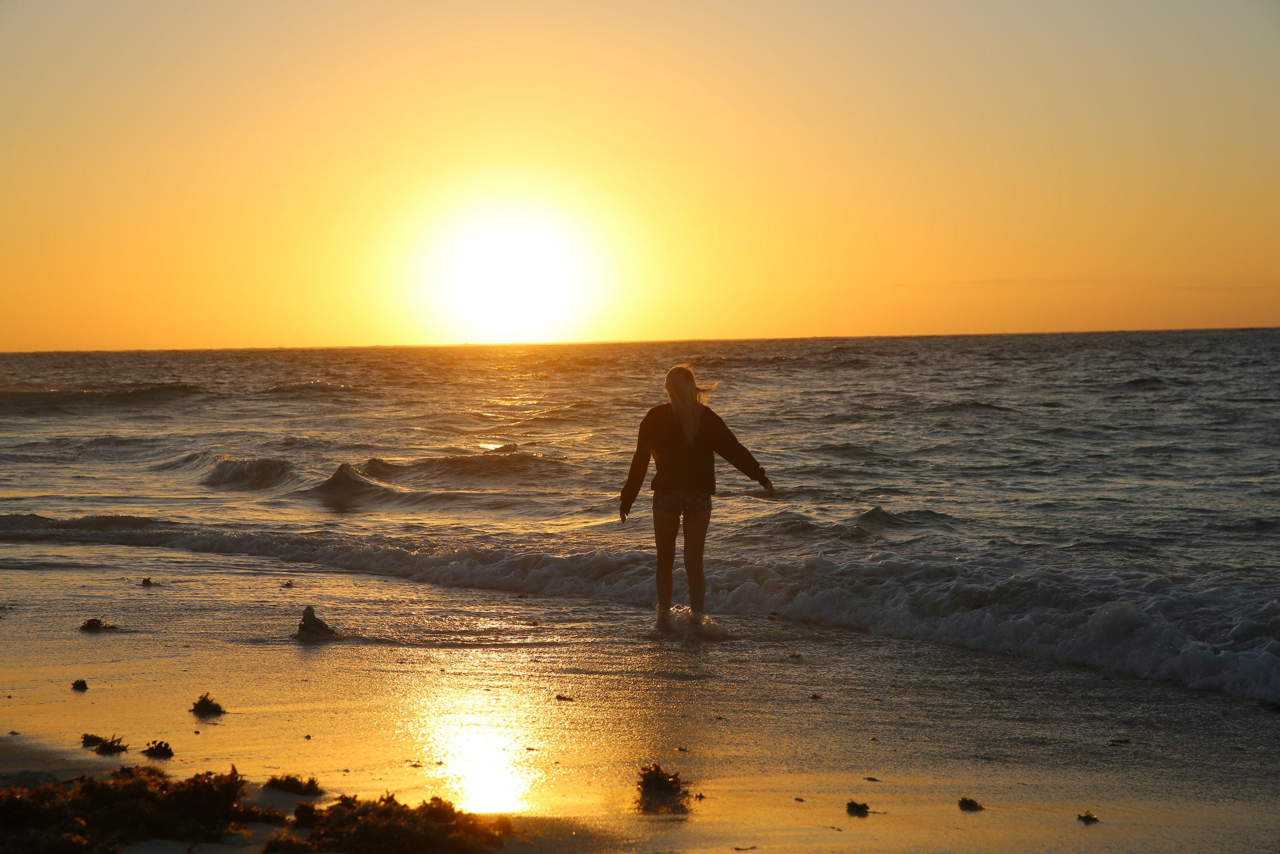 naked island at sunrise