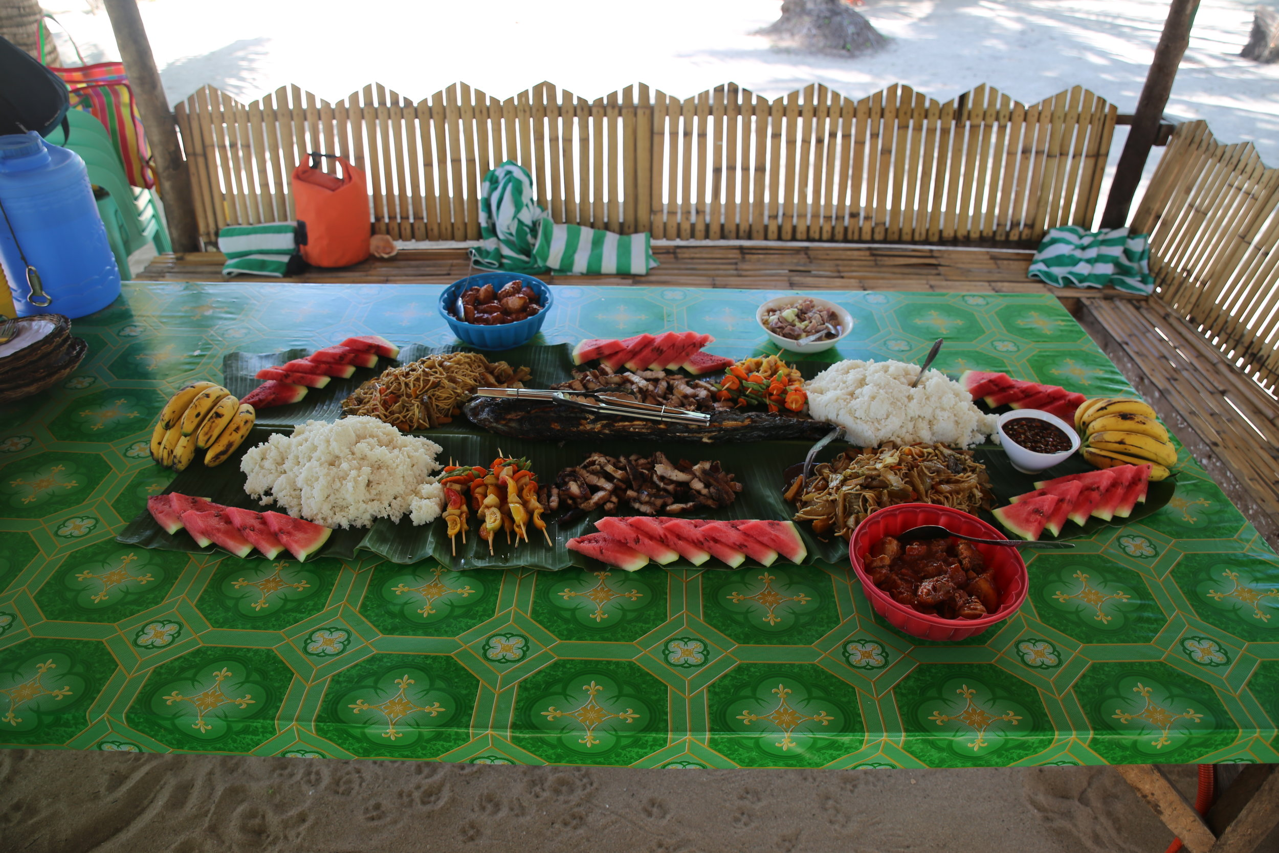 The great spread you get on any of the island hopping tours