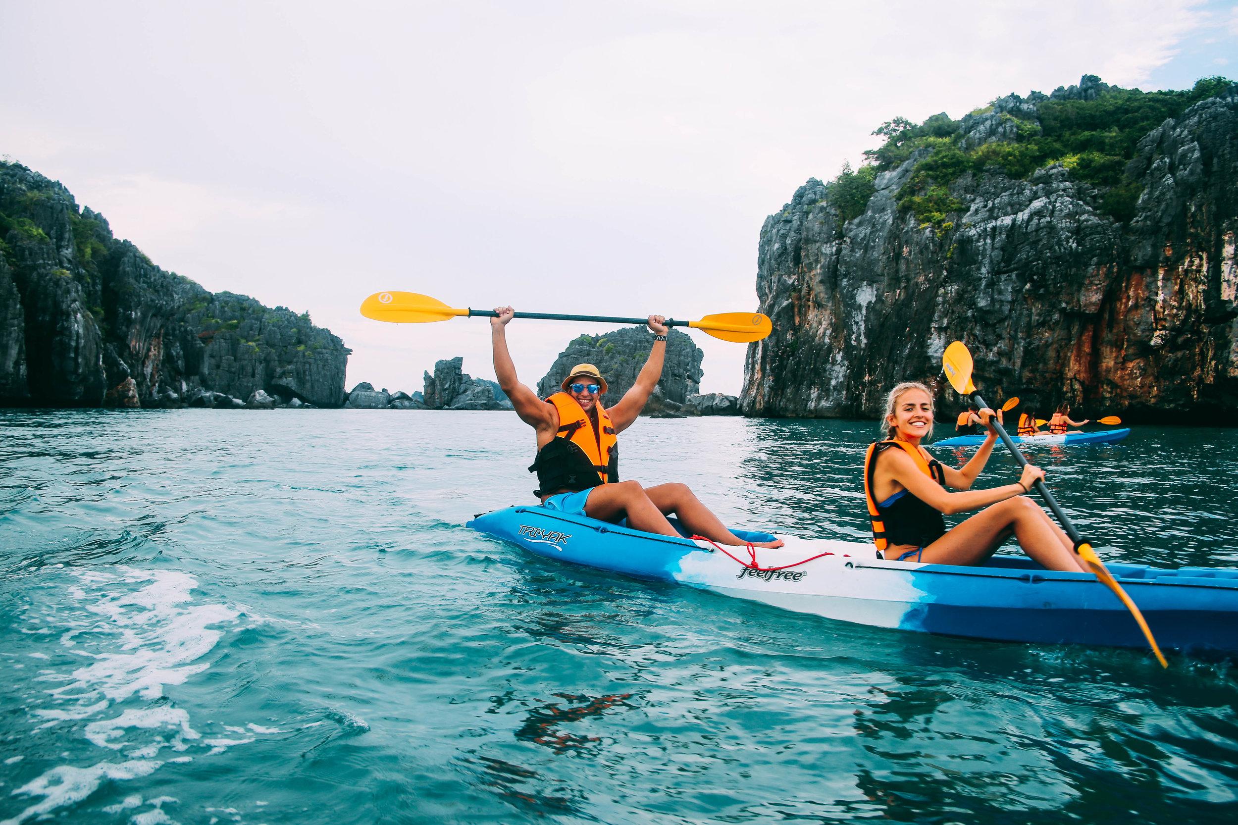 kayaking in Ang Thong Marine park