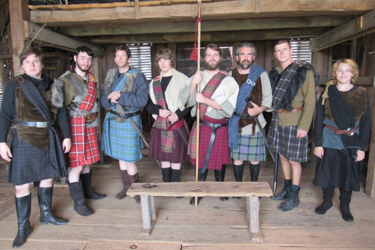 The Scottish Noblemen from the 2015 production of  Macbeth .