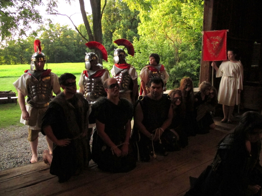 The Goths are captured by the Roman Army led by Titus Andronicus.