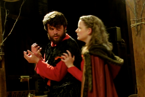 Ryan Szwaja and Marisa Hoover as the Macbeths.