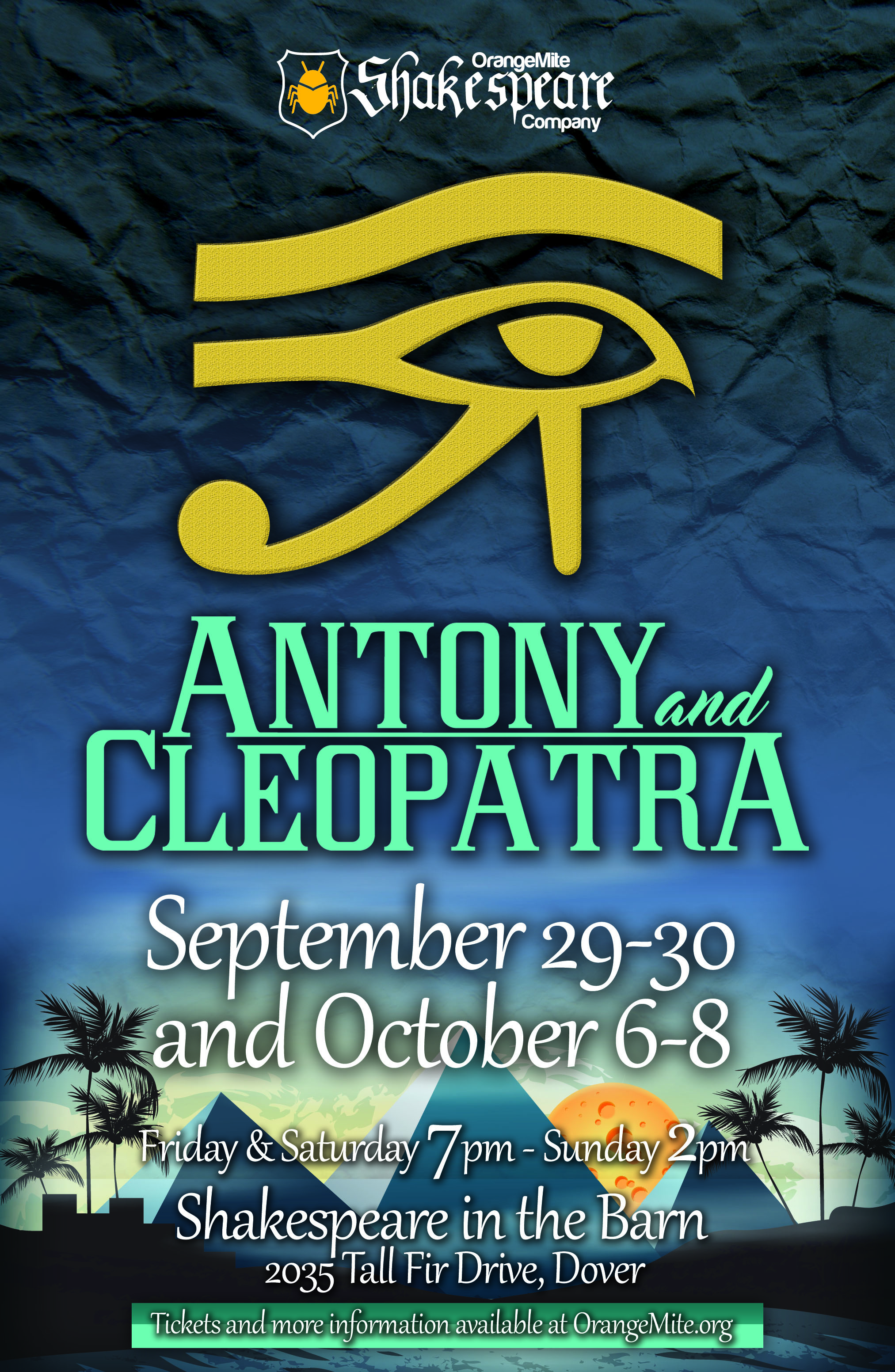 ANTONY AND CLEOPATRA - SEPT. 2017