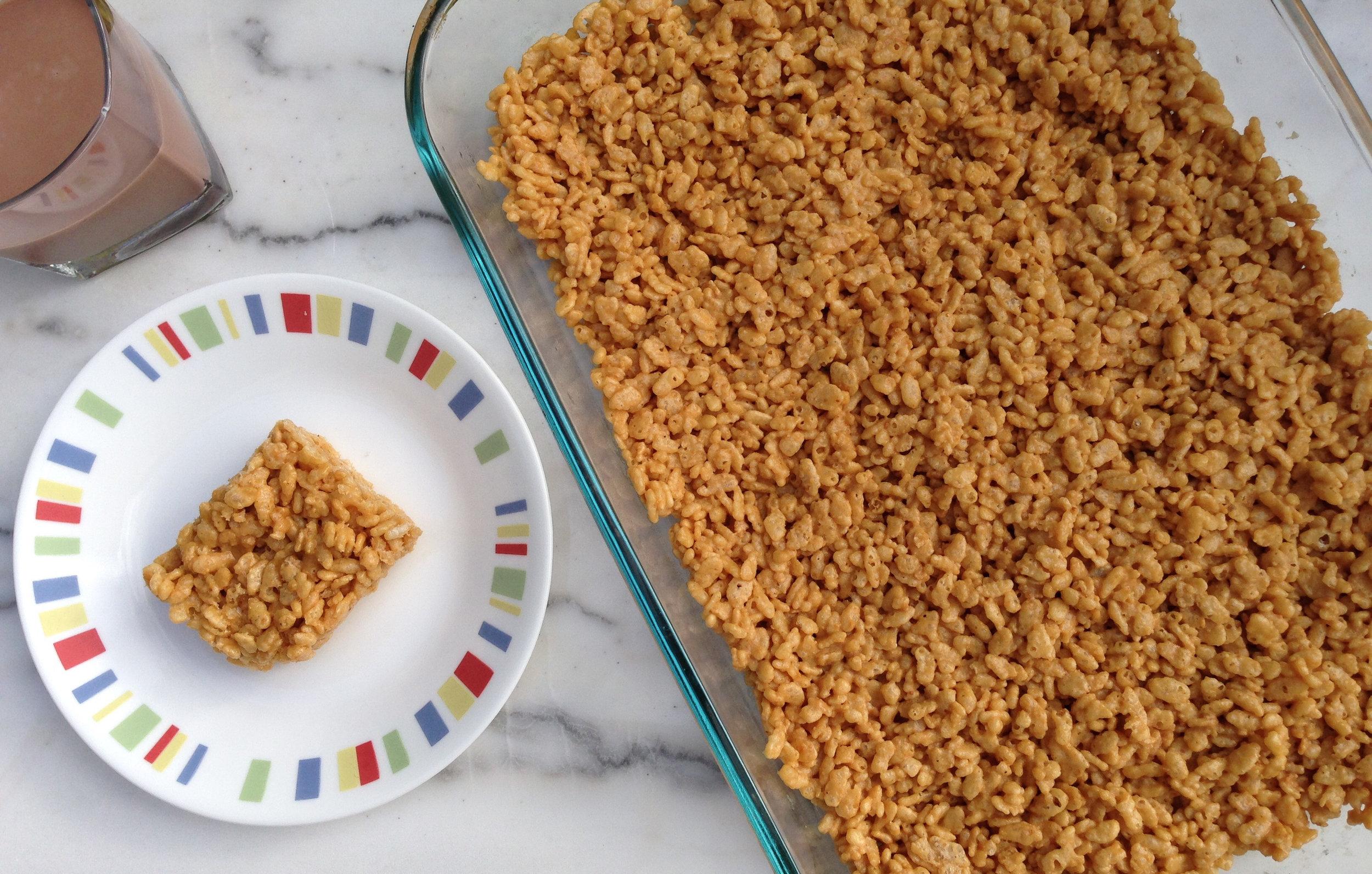 High Protein Peanut butter Recipe Crispy Treats