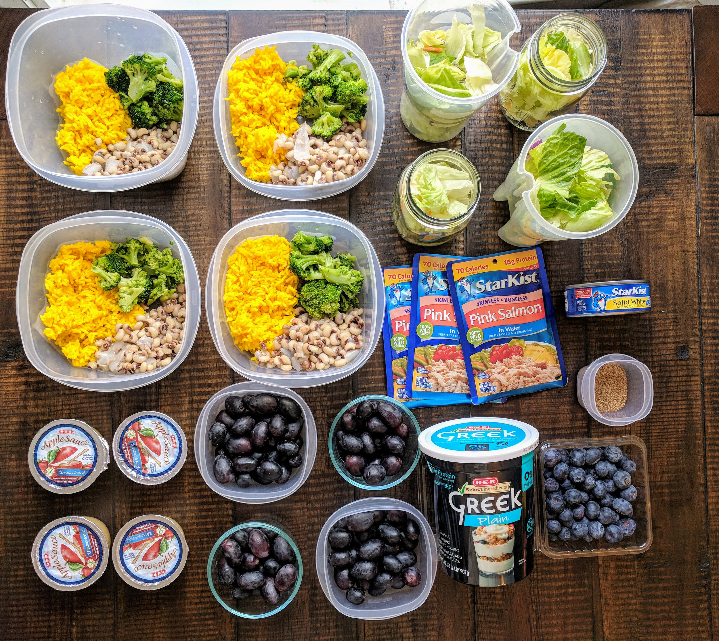 Meal Prep doesn't have to be complicated. These 8 meals and 4 breakfast prepared in  a little over an hour!