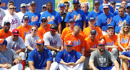 Service Members Wearing custom Army, Air Force, Navy, Coast Guard, and Marines Mets shirts.