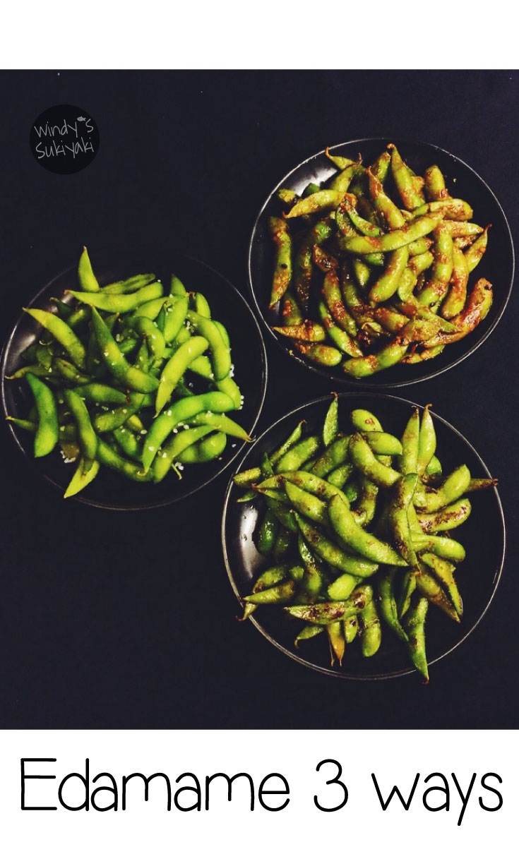 Love edamame? Try all 3 flavors: plain salted, kimchi and garlic